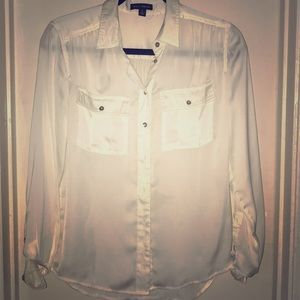 White sheer blouse